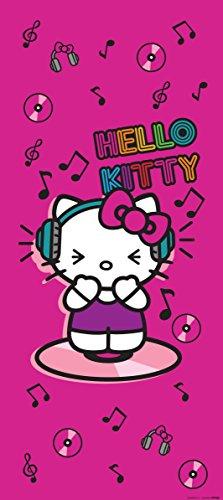 AG Design FTV 1531 Hello Kitty, Papier Fototapete Kinderzimmer - 90x202 cm - 1 Teil, Papier, multicolor, 0,1 x 90 x 202 cm