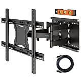 BONTEC Staffa TV per 37-80 Pollici LCD/LED/Plasma e Curvi Screens, Girevole ed Estendibile Supporto...