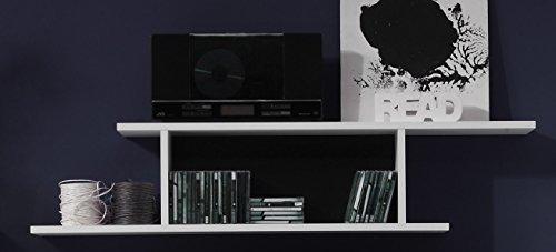 Wohnwand – Modern in weiß Bild 5*