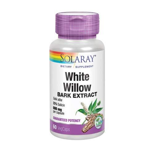 Solaray White Willow Bark 650 mg | Silberweide | 60 VegCaps