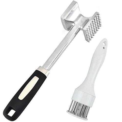 LABOTA Heavy Duty Meat Mallet Meat Tenderizer Meat Hammer and Meat Tenderizer with 21 Stainless Steel Needle Blades for Tenderizing and Pounding Steak, Beef and Poultry