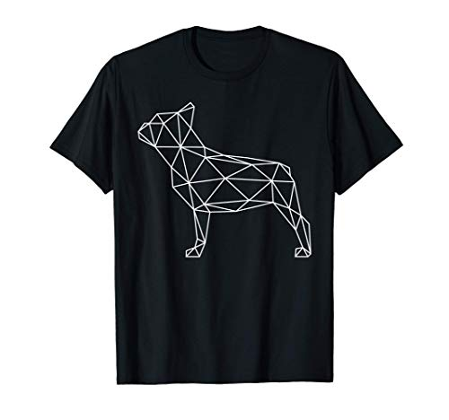 Figura geométrica de bulldog francés Frenchie Dog Owner Dogs Camiseta