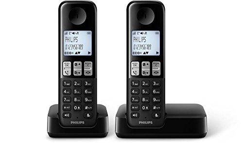 Philips - Teléfono (Escritorio. Negro. 50/60. AAA. Polifónico. Digital)
