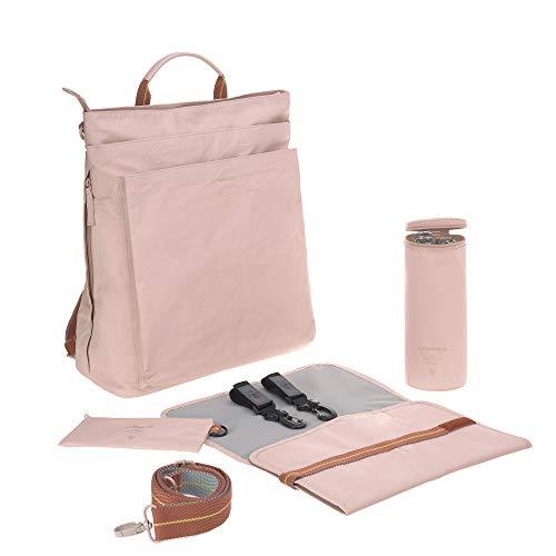LÄSSIG Baby Wickelrucksack Wickeltasche inkl. Zubehör nachhaltig produziert/Green Label Tyve Backpack, rosa