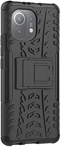 """Capa Capinha Anti Impacto Para Xiaomi Mi 11 Lite com Tela de 6.55"""" polegadas Case Armadura Hybrid Reforçada Com Desenho De Pneu - Danet (Preta)"""