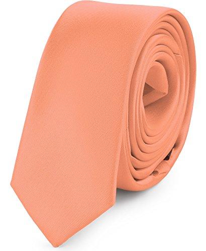 Ladeheid Herren Schmale Krawatte SP-5 (150cm x 5cm, Hell lachs)