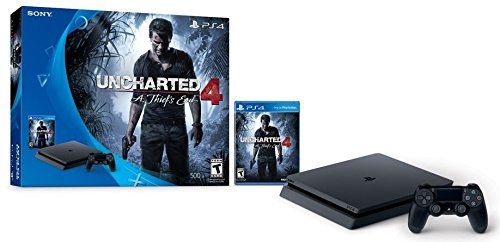 PlayStation 4 Slim 500GB Console - Uncharted 4 Bundle  Discontinued