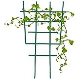 Lot de 4 supports pour plantes grimpantes, treillis, treillis pour plantes en pot, DIY support de fleurs en plastique, mini plantes de jardin superposées 30,5 x 16,5 x 0,4 cm