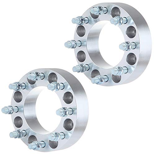 ECCPP 2' 2X 8x6.5 Wheel Spacer 8x6.5 to 8x6.5 117mm Wheel Spacers 8 Lug fits for GMC Savana/Sierra/C3500 Chevrolet C2500 Chevrolet Avalanche with 14x1.5 Studs