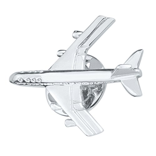 Sharplace Charm Hombres Plata Latón Metal Avión Broche Collar Pin Chaqueta Bolsa Insignia