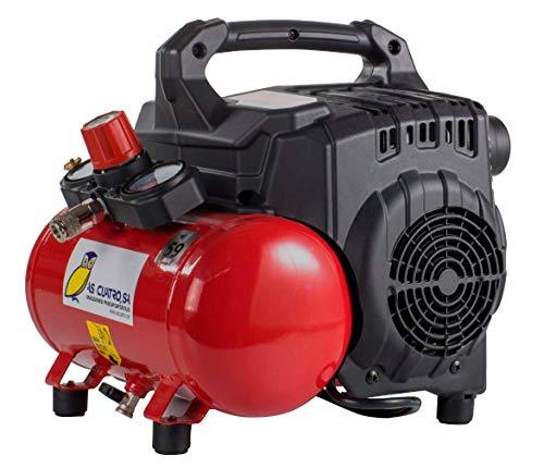 Compresor Portátil y Silencioso Pintuc Modelo SILTEK S/6-0,75 Hp - 6 Litros - 8 Bares - 59 Decibelios - 15,5 Kilos - Novedad