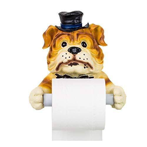 PYROJEWEL Titular de papel higiénico titular de papel higiénico baño libre de punzonado inodoro resina caja de papel de baño soporte de papel higiénico autoadhesiva (Color: ORANGE, tamaño: 19 * 19 * 1