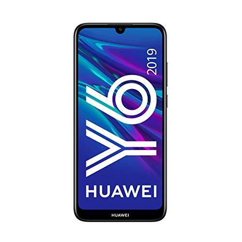 """Huawei Y6 2019 - Smartphone de 6.09"""" (RAM de 2GB, Memoria de 32GB, 3020 mAh, Cámara de 13 MP), EMUI 9.0, Color Negro"""