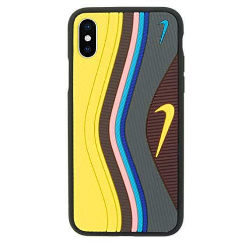 iPhone 3D Sean W/Undefeated Air Max 97 Shoe Case Official Print Textured Shock Absorbing Protective Sneaker Fashion Case (Yellow, iPhone 6+/6s Plus)