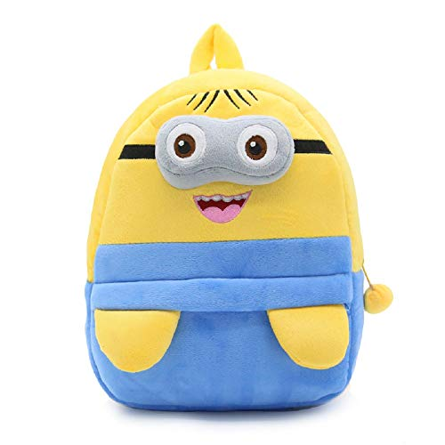 JCBD Kids Backpacks Cute Plush Little Girls Boys Cartoon Animal Backpacks school backpacks (Minions)