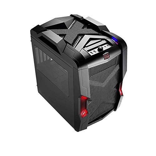 Nanoxia Micro ATX Case for Gaming/Desktop/Cube/Tower - Rexgear 2 Limited Edition, Onyx Black