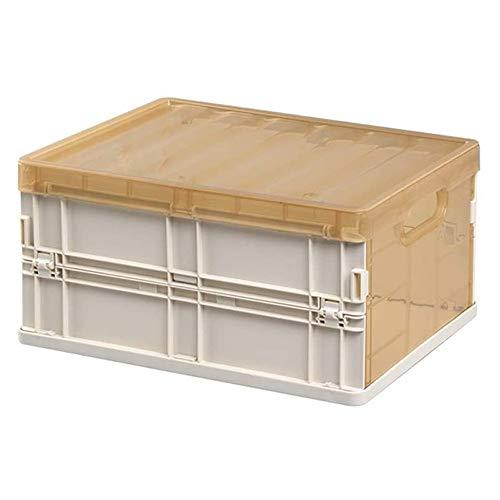 HUIXINLIANG Boîte de Rangement Pliable Boîte de Voiture, boîte de Rangement Plastique Pliable Multifonctionnel avec Couvercle et poignées à Double poignées, pour Livres/Jouets/collations/vêtemen