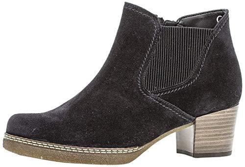 Gabor Damen Chelsea Boots 36.661, Frauen Stiefelette,Stiefel,Halbstiefel,Bootie,Schlupfstiefel,hoch,Pazifik(S.nat/Mic),38 EU / 5 UK