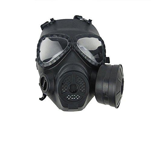 Finlon CS Spielemaske, Gesichtsschutz, Gasmaske für Paintball, taktische Airsoft-Spiele, CS Armee, Krieg, BB-Spiele, Finlon-2TYU6, Schwarz