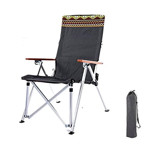Yxx@ Silla de Camping Plegable Sillón reclinable de Camping Sillón reclinable de jardín Silla de Camping portátil Silla de Pesca con Respaldo Ajustable Puede soportar 200 kg para Senderismo, picnics