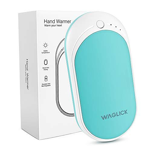 WAGLICK Scaldamani Ricaricabile USB 5200mAh Powerbank Caricabatterie Portatile Scaldamani Elettrico Riutilizzabile Scaldamani Tascabili Batteria Esterna Scaldini Istantanei Caldo Mano Warme