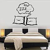 Wandaufkleber gute nacht Bequemes schlafkissen wandtattoo wohnzimmer tv wand sofa hintergrund...