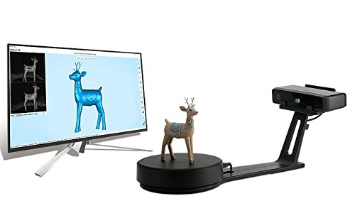 EinScan-SE White Light Desktop 3D Scanner,0.1 mm Accuracy, 8s Scan Speed, 700mm Cubic Max Scan Volume, Fixed/Auto Scan Mode, Lowest Cost Professional Level 3D Scanner