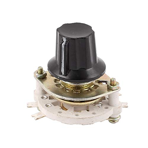 New Lon0167 KCZ 7 polos 1 tiro Selector de interruptor giratorio de canal de banda de eje de 6 mm con tapa(KCZ 7 Pol 1 Wurf 6mm Wellenband Kanal Drehschalter Wahlschalter w Cap