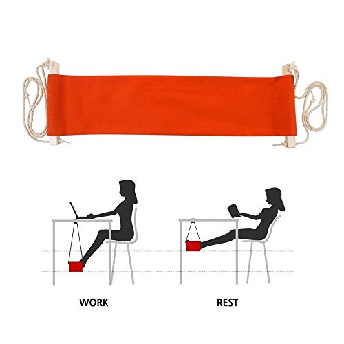 JHIN Office Mini Voet Rest Stand Bureau Voeten Hangmat Verstelbare Vrije tijd De voet Rest Voet Opknoping Hangmat Voor Voeten Geschikt Voor Alle Bureau Types-Twee Kleur Keuze