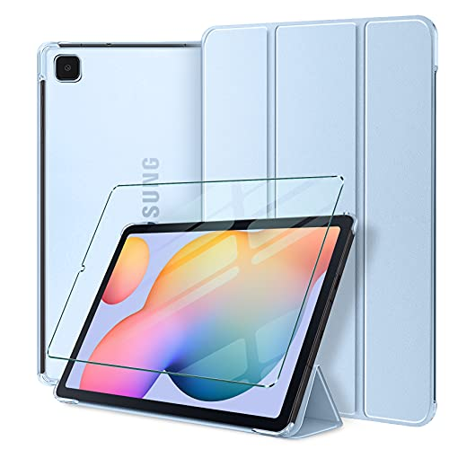 AROYI Funda y Protector de Pantalla Compatible con Samsung Galaxy Tab S6 Lite 10.4 Inch 2020 (SM-P610/P615) Funda Ultra Delgado Translúcido Smart Cover con Auto Reposo/Activación y Soporte Función
