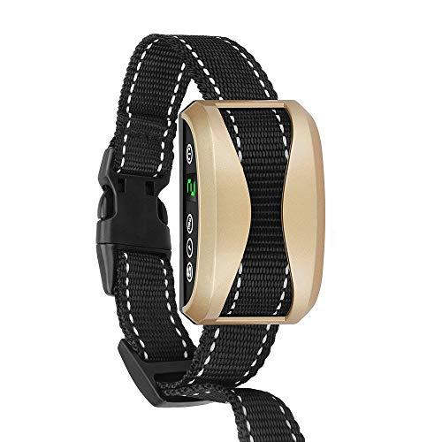Antibell Halsband Hund, Erziehungshalsband mit 7 Empfindlichkeit, Wiederaufladbaren Wasserdichten Elektrohalsband mit Vibration und Piepton für Kleine Mittel Große Hunde