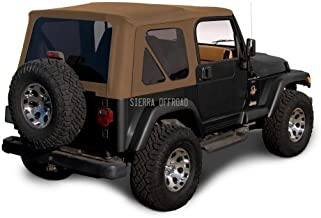Sierra Offroad Jeep Wrangler TJ (1997-2002) Factory Style Soft Top with Tinted Windows, without Upper Doors (Sailcloth Spice)
