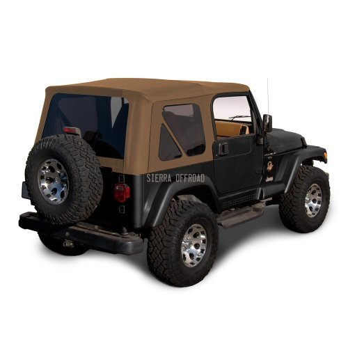 Sierra Offroad Soft Top Replacement for Jeep Wrangler TJ 1997-2006 Factory Style, Sailcloth Vinyl, Spice