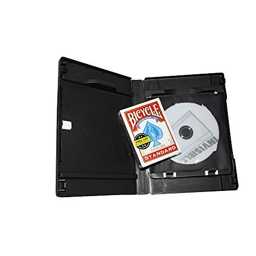 Invisible Deck inkl. DVD, Zauberkasten-Set inkl. Unsichtbares Kartenspiel von Bicycle und Deutschsprachiger Basic-Anleitung, Zaubertrick, Zauberartikel für Kartentricks, Magic Trick