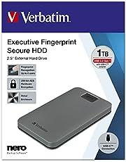 Executive fingerprint säker bärbar USB-C-hårddisk 1 TB
