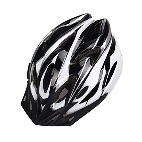 ASDFY Casco de Bicicleta de moldeo Integrado Casco de Montar para Adultos Monopatín Bicicleta de Carretera de montaña Casco Ajustable Visera extraíble (52-62cm)