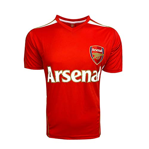 Arsenal Poly Jersey, Kids Sizes Arsenal Shirt (Youth X-Large 13-15 Years) Red