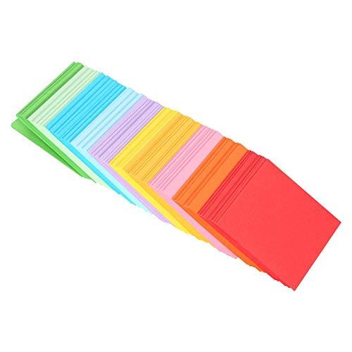 Origami Papier, 520 Stks Kleurrijk Eenvoudig Vouwpapier met 10 Kleuren Vierkant Dubbelzijdig Origami Kraan Ambacht voor Beginner