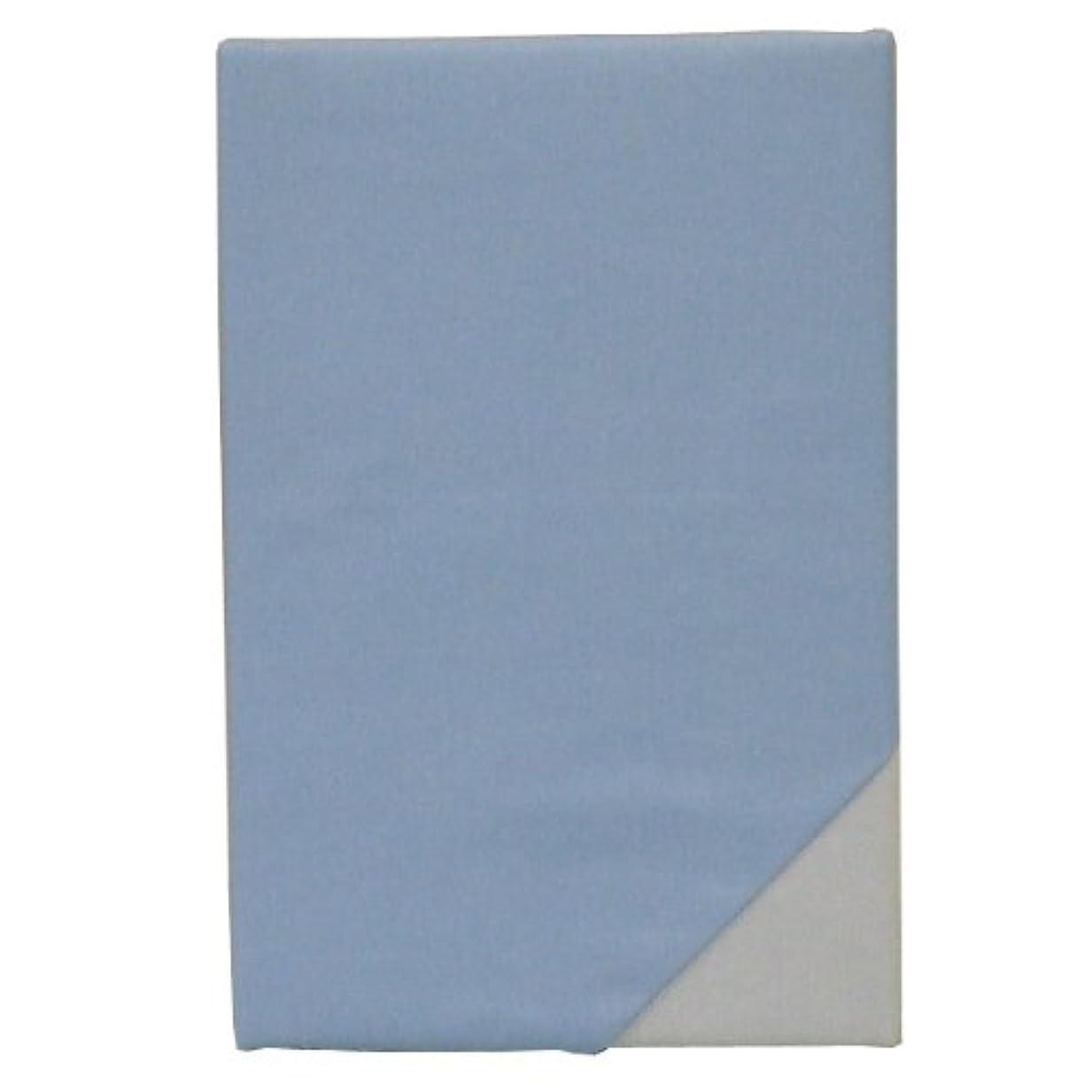 概して扇動未使用【日本製】 綿100% 敷き布団カバー 無地 シングル 105×205cm YKKファスナー使用 2905-77 (ブルー)