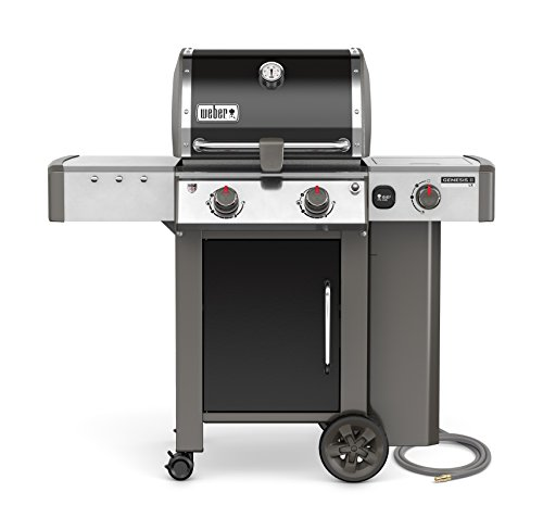 Weber, Black 65014001 Genesis II LX E-240 Natural Gas Grill, Two-Burner