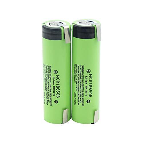 NHFGJ 2/4/6/8/10 unidades de alta calidad 3.7 V recargable 3400mAh Li-ion baterías NCR 18650b 18650 Vape Linterna de bolsillo con batería 6 unidades