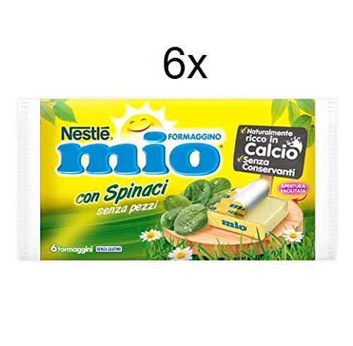 6x Nestlè Formaggino Mio Spinaci Käse mit Spinat Frischkäse reich Kalzium 125g