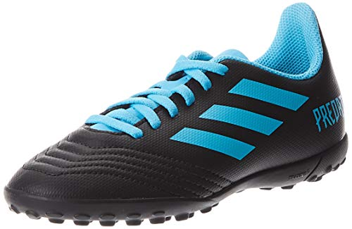 adidas Predator 19.4 TF J, Zapatillas de Fútbol Unisex niños, Multicolor (Core Black/Bright Cyan/Solar Yellow G25826), 29 EU