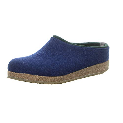 HAFLINGER Unisex-Erwachsene Kris Grizzly Pantoffeln, Blau (Jeans 72), 46 EU