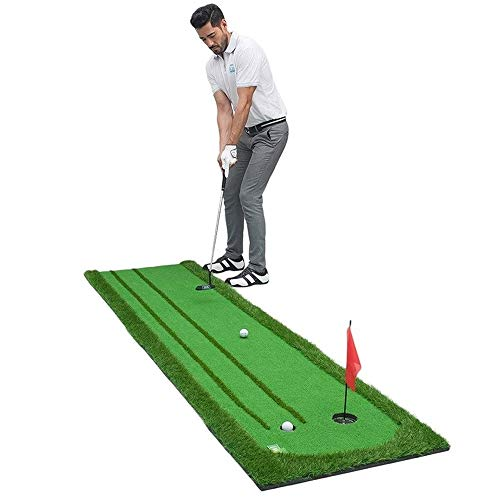 XWX Golf Putting Practice Inicio Indoor Golf Practica Manta De Práctica con Partido De Bola De Gradiente Protección Ambiental Mini Equipo De Entrenamiento Putter Golf Golf Indoor