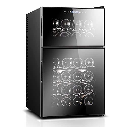 ZQ Wijnkoeler, vrijstaande single-zone-koelkast en wijnkoelkast, thermostaat en led-lampen met glazen deur en digitale temperatuurweergave