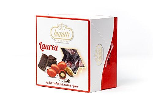 Buratti Confetti alla Mandorla Ricoperta di Cioccolato, Tenerezze Vassoio Rosso - 500 g