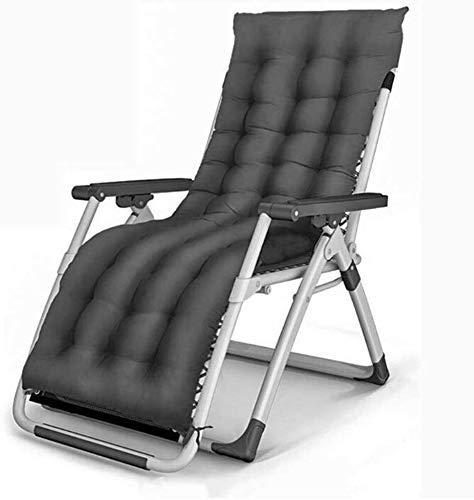 Chaises de jardin Office Life Chaises de jardin Chaise pliante Chaise longue Transats, chaise longue de patio avec support pour chaise de camping de plage en plein air 440 Lbs (couleur: noir + cous
