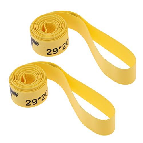 Prettyia 2PCS/set mountain bike tire Liner Pad camera d' aria antiforatura Protector antiforatura Belt–Fits 700C strada bicicletta MTB 66cm 69,8cm 73,7cm, N9000 Iii, 26inch x 20mm