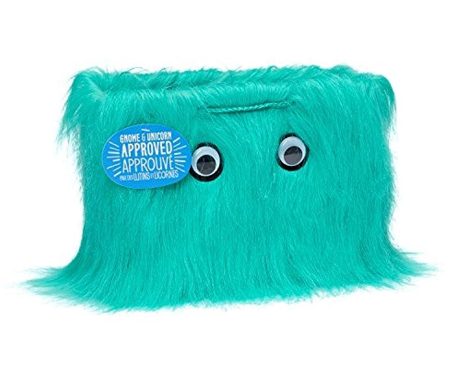 American Greetings Medium Furry Gift Bag, Warm Fuzzies Aqua